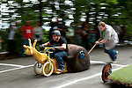 """Racing Snail""gets a push start at Portland's Adult Soap Box Derby"