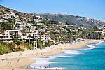 Beach and shore in Laguna Beach, California.
