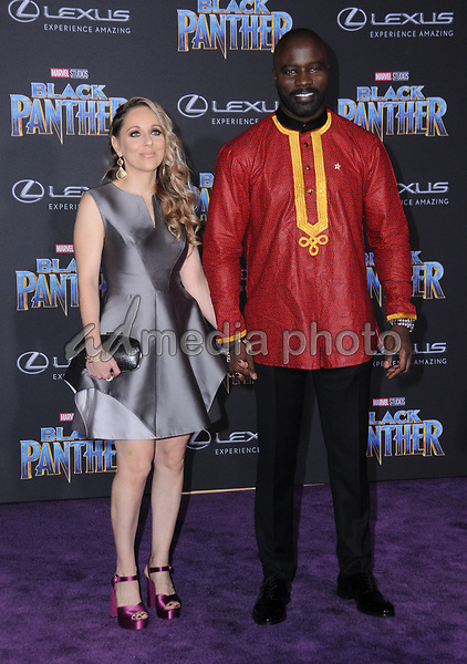 """29 January 2018 - Hollywood, California - Mike Colter. Marvel Studios' """"Black Panther"""" World Premiere held at Dolby Theater. Photo Credit: Birdie Thompson/AdMedia"""