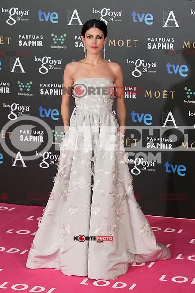 Nerea Barros attend the 2015 Goya Awards at Auditorium Hotel, Madrid,  Spain. February 07, 2015.(ALTERPHOTOS/)Carlos Dafonte) /NORTEphoto.com