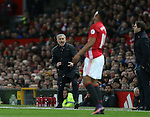 Jose Mourinho manager of Manchester United reacts after Anthony Martial of Manchester United looses the ball during the English Premier League match at Old Trafford Stadium, Manchester. Picture date: December 11th, 2016. Pic Simon Bellis/Sportimage