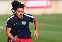 Boyds, MD - Saturday May 07, 2016: Washington Spirit defender Ali Krieger (11) before a regular season National Women's Soccer League (NWSL) match at Maureen Hendricks Field, Maryland SoccerPlex. Washington Spirit tied the Portland Thorns 0-0.