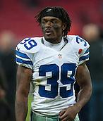 09.11.2014.  London, England.  NFL International Series. Jacksonville Jaguars versus Dallas Cowboys. Dallas Cowboys' Defensive Back Brandon Carr (#39)
