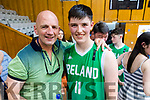 Brendan Kennelly with his son Daire who played for Ireland in the U16 Boys Basketball European Championships in Sofia, Bulgaria on Saturday.