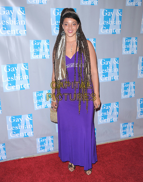 Naia Kete .attends the An Evening With Women held at The Beverly Hilton in Beverly Hills, California, USA, May 19th,2012..full length purple  long maxi dress silver head scarf dreadlocks                                                                .CAP/RKE/DVS.©DVS/RockinExposures/Capital Pictures.