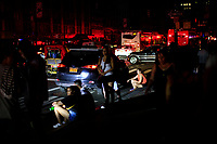 NEW YORK, NEW YORK - JULY 13: People are see at the streets in Times Square during a major power outage on July 13, 2019 in New York City. New Yorkers are without power as a major outage left portions of Manhattan, including Times Square and the Upper West Side with disrupting subway service across the city. (Photo by VIEWPRESS)