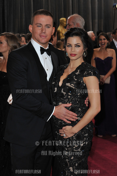 Channing Tatum & Jenna Dewan at the 85th Academy Awards at the Dolby Theatre, Hollywood..February 24, 2013  Los Angeles, CA.Picture: Paul Smith / Featureflash