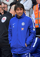 Chelsea manager Antonio Conte <br /> <br /> Photographer David Horton/CameraSport<br /> <br /> The Premier League - Southampton v Chelsea - Saturday 14th April2018 - St Mary's Stadium - Southampton<br /> <br /> World Copyright &copy; 2018 CameraSport. All rights reserved. 43 Linden Ave. Countesthorpe. Leicester. England. LE8 5PG - Tel: +44 (0) 116 277 4147 - admin@camerasport.com - www.camerasport.com