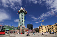 Norwegen, Oslo, Bahnhofsplatz (Jernbanetorget)