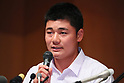 Kotaro Kiyomiya (),<br /> SEPTEMBER 22, 2017 - Baseball :<br /> Kotaro Kiyomiya of Waseda Jitsugyo attends <br /> a press conference in Tokyo, Japan. <br /> He announced that he aims to pursue a career <br /> in Nippon Professional Baseball instead of college education. (Photo by YUTAKA/AFLO)