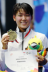 €Waka Kobori (JPN), <br /> AUGUST 19, 2018 - Swimming : <br /> Women's 1500m Freestyle Medal celemony <br /> at Gelora Bung Karno Aquatic Center <br /> during the 2018 Jakarta Palembang Asian Games <br /> in Jakarta, Indonesia. <br /> (Photo by Naoki Nishimura/AFLO SPORT)