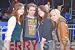 CONCERT FUN: Having a great time at concert at the Denny Street stage on Friday l-r: Clare Kennedy, Alanna Diggin, Celine Kissane and Chloe Moriarty.