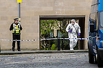 POLICE seal off Jamaica Street in the centre of Edinburgh on Wednesday afternoon while they search a property.<br /> <br /> A 38 year-old man is arrested and later charged with a weapons offence after the recovery of a &lsquo;number of firearms&rsquo; at an address in Edinburgh.<br /> <br /> Pictured:<br /> <br /> Image by: Malcolm McCurrach<br /> Wed, 16, April, 2014