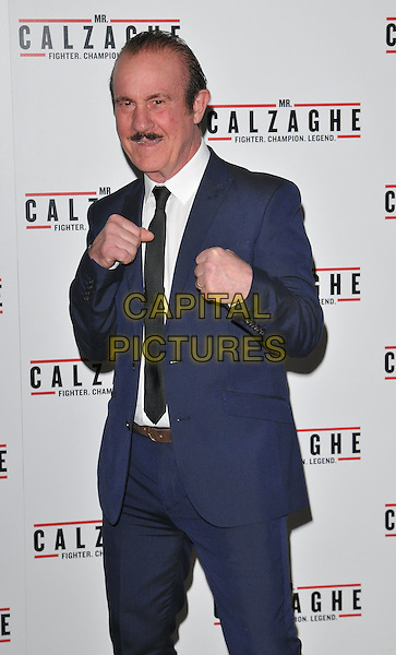 Enzo Calzaghe attends the &quot;Mr Calzaghe&quot; gala film screening, The May Fair Hotel, Stratton Street, London, England, UK, on Wednesday 18 November 2015. <br /> CAP/CAN<br /> &copy;CAN/Capital Pictures