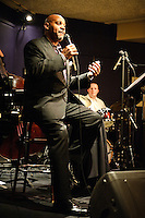 The Genius of Eddie Jefferson show by Eric Reed, Carla Cook and Allan Harris at Jazz at the Bistro in Saint Louis on April 1, 2009.