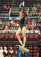 STANFORD, CA - February 20, 2016: Women's Gymnastics vs Utah in Maples Pavilion on the campus of Stanford University.