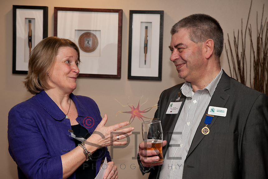 Council members Rosie Garwood of Business in the Community and Trevor Harris of Pedigree Automotive Solutions