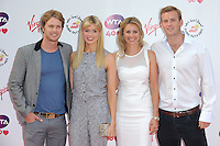 NON EXCLUSIVE PICTURE: PAUL TREADWAY / MATRIXPICTURES.CO.UK<br /> PLEASE CREDIT ALL USES<br /> <br /> WORLD RIGHTS<br /> <br /> Sam Branson, Isabella Calthorpe, Holly Branson and Fred Andrews attending the WTA Pre Wimbledon Party, at London's Kensington Roof Gardens.<br /> <br /> 20th JUNE 2013<br /> <br /> REF: PTY 134225