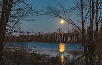 Moonlight over a wilderness lake in northern Wisconsin