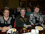 Mary King, Eileen Gillespie and Mary Matthews pictured at Collon senior citizens christmas party at Watters lounge. Photo:Colin Bell/pressphotos.ie