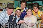 Killorglin CYMS drama group in rehersal for the play 'Country Boy' by John Murphy which they will perform 2-4th April l-r: Edso Crowley, Karl Falvey, Kathleen Cronin, Edel Conway and Hazel Devane