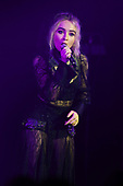 MIAMI BEACH, FL - AUGUST 04: Sabrina Carpenter performs at the Fillmore on August 4, 2017 in Miami Beach, Florida. Credit Larry Marano © 2017