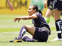 LA Sol's Marta looks for helping hand up. The Boston Breakers and LA Sol played to a 0-0 draw at Home Depot Center stadium in Carson, California on Sunday May 10, 2009.   .