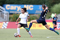 Cary, North Carolina  - Saturday July 01, 2017: Raquel Rodriguez and Ashley Hatch during a regular season National Women's Soccer League (NWSL) match between the North Carolina Courage and the Sky Blue FC at Sahlen's Stadium at WakeMed Soccer Park. Sky Blue FC won the game 1-0.