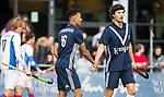 AMSTELVEEN - Marlon Landbrug (Pinoke) en Lukas Sutorius (Pinoke) . Hoofdklasse competitie heren. Pinoke-SCHC (0-1) . COPYRIGHT  KOEN SUYK
