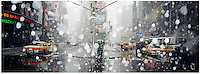Times Square NY during a light snow storm. winter 2000
