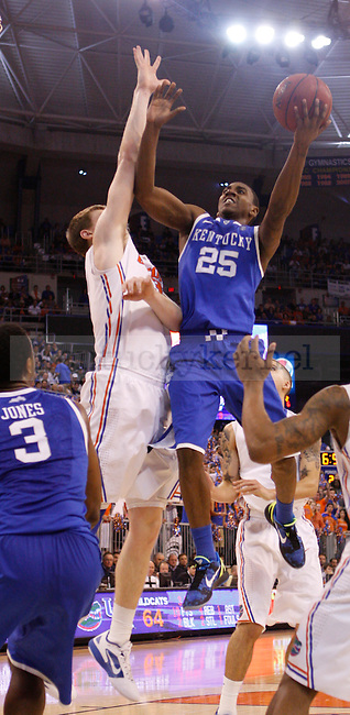 UK point guard Marquis Teague drives the lane to shoot a floater during the second half of the University of Kentucky's men basketball game against University of Florida 3/4/12 at the O'Connell Center in Gainesville, Fl. Photo by Quianna Lige | Staff