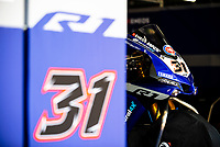 8th July 2020; Circuit de Barcelona Catalunya, Barcelona, Spain; FIM Superbike World Championship testing, Day One; front of the Yamaha YZF R1 WorldSBK of Garrett Gerloff