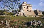 Temple of the seven dolls, Dzibilchaltun, Mexico, Central America