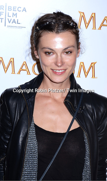 Aurelie Claudel attending The premiere of the Magnum Ice Cream Film Series during the Tribeca Film Festival on April 21, 2011 at The IAC Building in New York City.