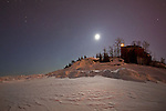 Marquette Lighthouse winter moonscape