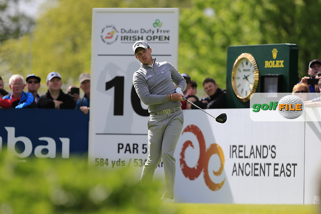 Danny Willett (ENG) on the 10th tee during round 1 of the Dubai Duty Free Irish Open, The K Club, Straffan, Co. Kildare<br /> Picture: Golffile | Fran Caffrey<br /> <br /> <br /> All photo usage must carry mandatory copyright credit (&copy; Golffile | Fran Caffrey)