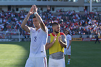 Carson, CA - Sunday, February 8, 2015 Matt Hedges (3) and Clint Dempsey (8) of the USMNT. The USMNT defeated Panama 2-0 during an international friendly at the StubHub Center.