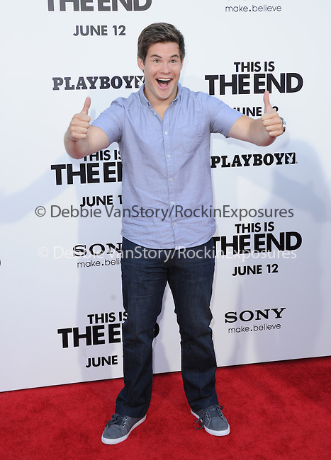 Adam DeVine at Columbia Pictures' World Premiere of This is the End Premiere held at The Regency Village Theatre in Westwood, California on June 03,2013                                                                   Copyright 2013 Hollywood Press Agency