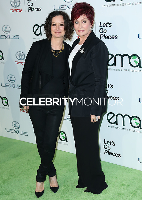 BURBANK, CA, USA - OCTOBER 18: Sara Gilbert, Sharon Osbourne arrive at the 2014 Environmental Media Awards held at Warner Bros. Studios on October 18, 2014 in Burbank, California, United States. (Photo by Xavier Collin/Celebrity Monitor)