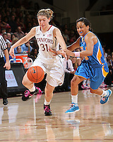STANFORD, CA - February 12, 2011: Stanford Cardinal's Toni Kokenis during Stanford's 82-59 victory over UCLA at Maples Pavilion.
