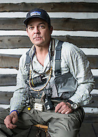 The Broadmoor Hotel's Fish Camp Manager Scott Tarrant at the new fly fishing lodge near Colorado Springs, Colorado, Monday, May 4, 2015. <br /> <br /> Photo by Matt Nager