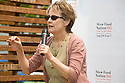 "Alice Waters, chef and founder/co-owner of Chez Panisse speaks at Community Planting Day (July 12, 2008) of the Slow Food Nation Victory Garden at San Francisco's Civic Center. The garden project ""demonstrates the potential of a truly local agriculture practice that unites and promotes Bay Area urban gardening organizations, while producing high quality food for those in need.""* The garden is planted on the same site as the post-World War II garden sixty years ago. The food will be grown over a period of two months, harvested, and donated to people in need..*slowfoodnation.org"