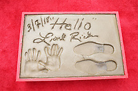HOLLYWOOD, CA - MARCH 7: Lionel Richie hand and foot print pictured at Lionel Richie's TCL Hand And Footprints Ceremony At The TCL Chinese Theatre IMAX In Hollywood, California on March 7, 2018. <br /> CAP/MPI/FS<br /> &copy;FS/MPI/Capital Pictures