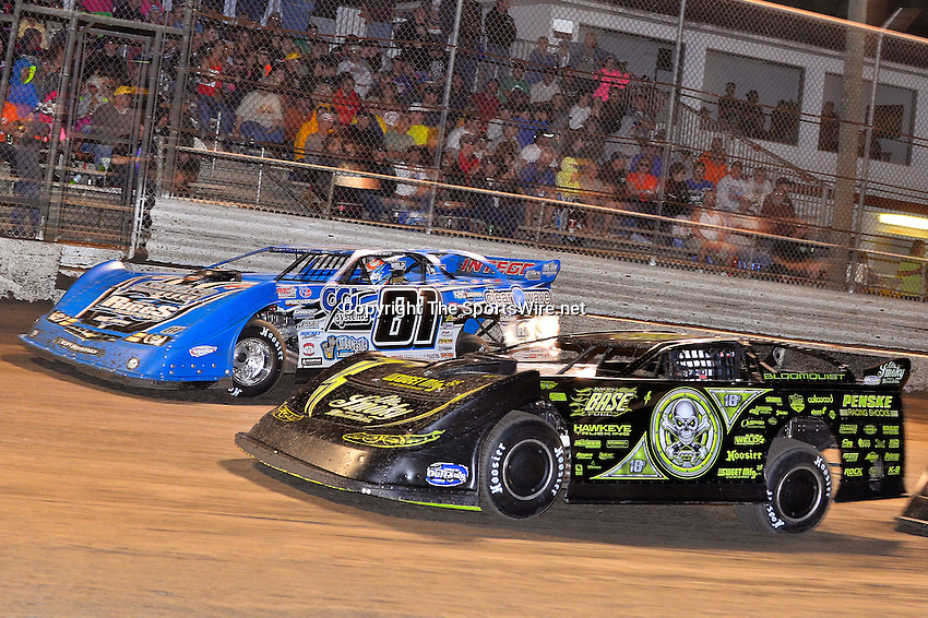 Feb 20, 2014; 9:20:31 PM;  Barberville, FL, USA;  World of Outlaws Late Model Series for 43rd Annual DIRTcar Nationals presented by Summit Racing Equipment at Volusia Speedway Park.  Mandatory Credit: (thesportswire.net)