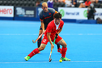 Dihao of China in action during the Hockey World League Quarter-Final match between Netherlands and China at the Olympic Park, London, England on 22 June 2017. Photo by Steve McCarthy.<br /> <br /> Netherlands v China at the Olympic Park, London, England on 22 June 2017. Photo by Steve McCarthy.