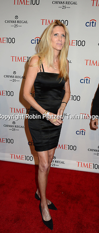 Ann Coulter attends the TIME 100 Gala celebrating the 100 Most Influential People in the World on April 29, 2014 at Frederick P Rose Hall in New York City, NY, USA.