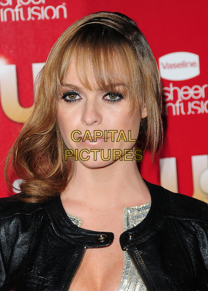 TARYN MANNING.US Weekly's Hot Hollywood Party 2009 held at Voyeur, West Hollywood, California, USA. .November 18th, 2009.headshot portrait black leather silver sequins sequined eyeliner.CAP/RKE/DVS.©DVS/RockinExposures/Capital Pictures.