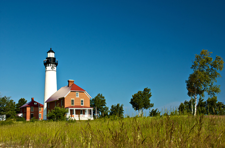 The historic Au Sable Light Station is located 12 miles west of Grand Marais in Michigan's Upper Peninsula.