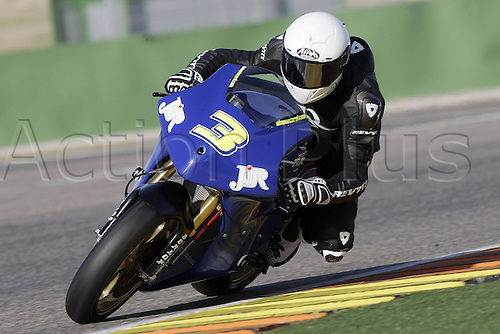 01/03/2010 Ricardo Tormo Circuit Valencia ESP MotoGP Simone Corsi riding for the JiR racing team. Photo: Imago/Actionplus. Editorial Use UK.