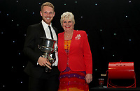 Jamie Porter receives the Boundary Club bowler of the year award during the Essex CCC 2017 Awards Evening at The Cloudfm County Ground on 5th October 2017